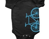 Fixed Gear Bicycle Fixie Bike Baby Toddler Creeper One Piece Bodysuit or Toddler T-Shirt