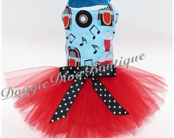 Dog Tutu Dress 50's Blast from the Past Medium