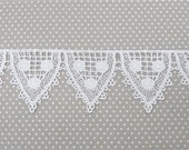Half Yard Venice Lace White Flag Bunting Venise Crazy Quilting Bridal
