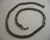 Vintage Silver Tone Chain Necklace