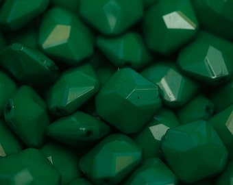 Bulk Wholesale Green Rhombus Beads 350 pieces 19mm x 18mm- Chunky Necklace Beads