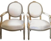 Pair Vintage French Louis XVI Chairs