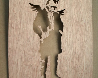 Banksy Punk Angel Wooden Stencil