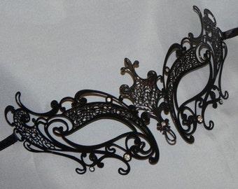 Simple Metallic Rhinestone Masquerade Mask