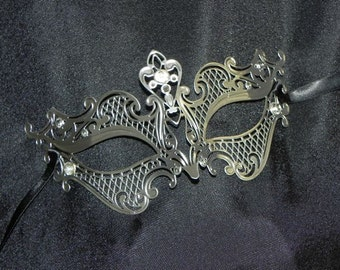 Petite Metallic Masquerade Mask - Small Sized