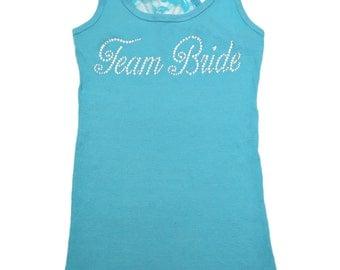 6 Team Bride Script Tank Tops / SET OF 6 bridesmaid shirts  / Ladies Bachelorette Party Shirts / Maid of Honor / Bridesmaid / Bride / Mother