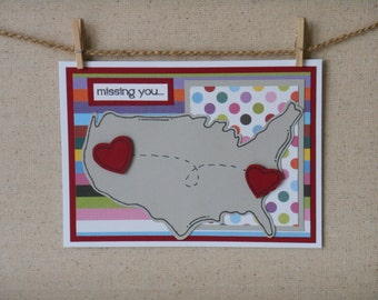 Missing You Handmade Greeting Card