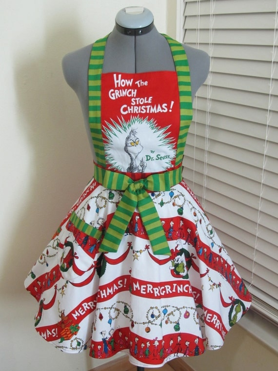 The grinch apron how stole christmas limited