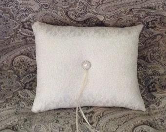lace flower girl pillow white or ivory custom made rectangle