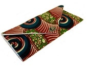 Wax Print Envelope Clutch