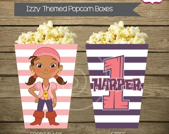 Printable Izzy Popcorn or Snack Box - Jake and The Neverland Pirates