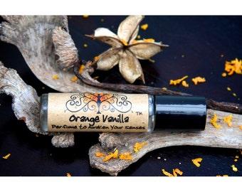 Orange vanilla perfume, roll on perfume, citrus perfume oil, vanilla perfume oil, essential oil perfume