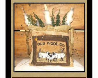 Old Wool Co- Punch Needle & Burlap Bag Pattern-Instant Download