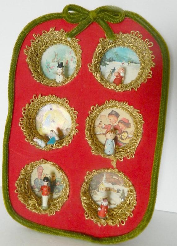 Vintage Christmas Wall Decor : Vintage handmade christmas wall decor muffin tin by luvredford