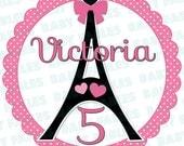 Birthday Girl Iron On Transfer Paris theme birthday birthday girl Birthday Iron On Eiffel Tower 5th Birthday 1st Birthday Little Girl