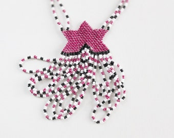 Shooting Star Seed Bead Necklace