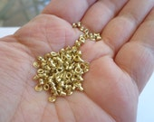 Tiny 1/16 inch Eyelets Brass color 100pk.