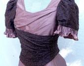 Womens Victorian Tea Dress Edwardian Wedding Gown Steampunk Evening Gown