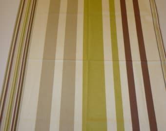 """Green Stripe Table Runner Funky Stripe Runner Cotton (78"""" 200cm)"""