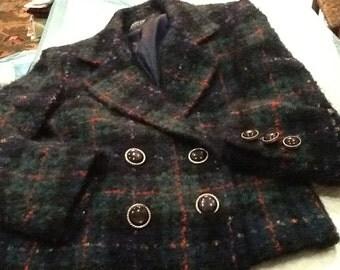 Vintage Authentic HERBERT GROSSMAN Blazer Herbert Grossman Jacket Colorful Plaid Mohair