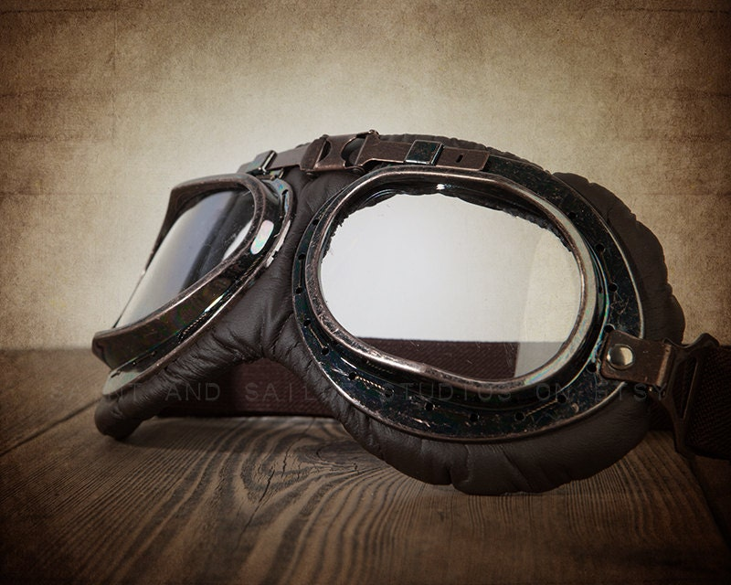 New CRG Vintage Bike Aviator Pilot Motorcycle Cruiser Scooter Goggles T08 T08BRB