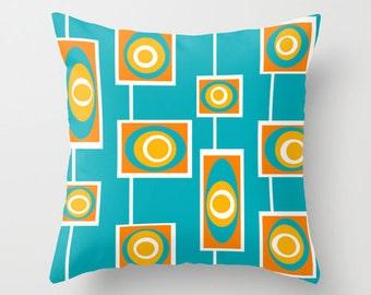 Turquoise Outdoor Pillow,Modern Outdoor Pillow, Modern Outdoor Cushion,