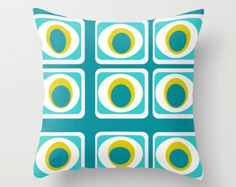 Modern  Pillow Cover, Geometric Pillow Cover, MidCentury Modern Throw Pillow Cover, Cool Pillow Cover, Retro Pillow Cover