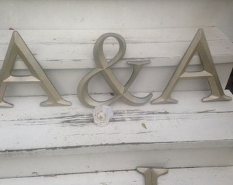 Wall Decor, Large Letter, Shabby Chic Wall Decor - New Item
