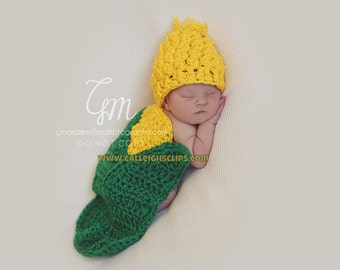 Sweet Baby Corn Cape Set Newborn Photography Prop