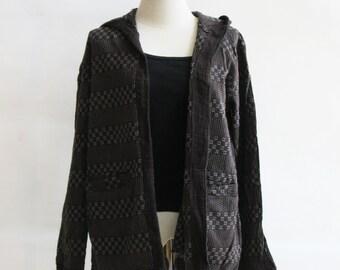 J2, Dark Chocolate Comfort Hood Dark Brown Cotton Jacket