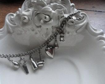 Charm Bracelet, Silvertone