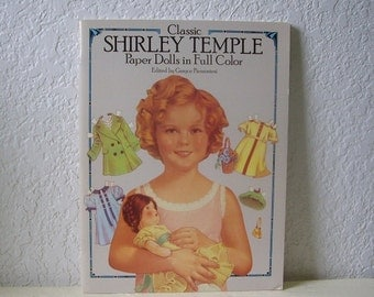Paper Doll Booklet, Classic Shirley Temple, 1986. Uncut