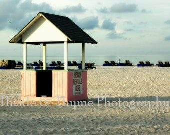 Beach Rental Photograph - 5 x 7 photographic art print