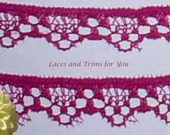 Plum Lace Trim 20 Yards Scalloped Woven 1/2 inch wide Lot O15 Added Items Ship No Charge