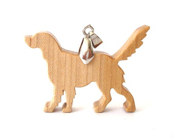 Golden Retriever Dog Necklace Scroll Saw Dog Breed Pendant Jewelry Maple Hand Cut