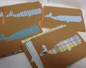 Sperm Whale blank notecard set 7ct