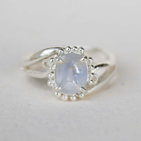 Blue Sapphire Engagement Ring Gemstone Ring by mysticalCharm3
