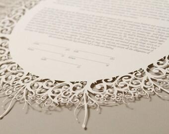 FLOURISHES papercut ketubah / wedding vows