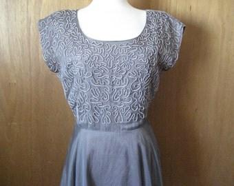 1940 Taffeta and Sheer Dress