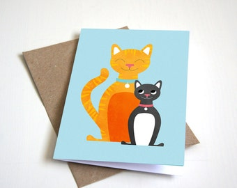 Greeting Card, Blank Card, Birthday Card, Cats