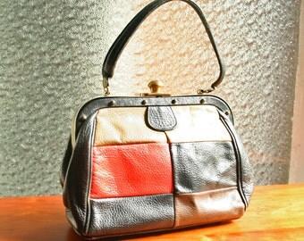 60s Roger Van S. Vintage Leather Handbag