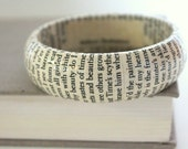 book bracelet - Shakespeare sonnets