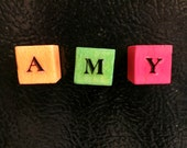 Magnetic Wooden Blocks - Three Letters