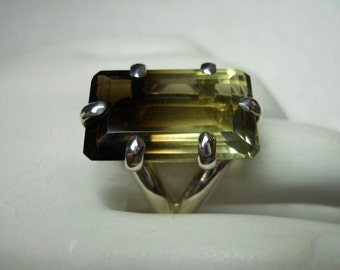 Bi-Colored Citrine Gemstone Ring