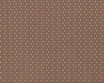 Verna Mosquera - Pirouette - Swiss Dot in Mocha - cotton quilting fabric BTY