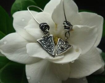 PMC Earrings - Intoxication - Artisan Spears - Fine Silver Earrings