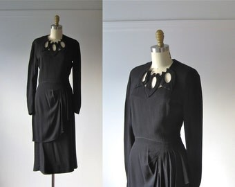 vintage 1940s dress / 40s dress / Shadow of a Doubt