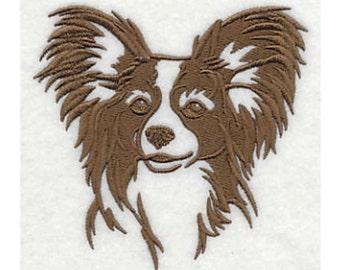 Papillon Tea Towel | Embroidered Kitchen Towel | Kitchen Towel | Embroidered Tea Towel | Dog Lover Gift.Towel | Papillon Gift | Hand Towel