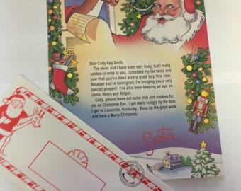 Items Similar To Santa Claus Envelopes Return Address