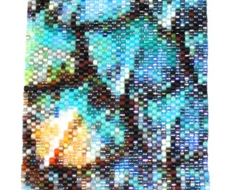 Seed Bead Peyote Stitch PATTERN ONLY for Lizard Scales
